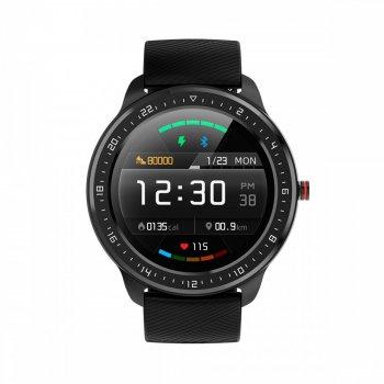 Смарт-годинник HerzBand Elegance S5 з пульсометром і тонометром + секундомір, крокомір і 10 режимів тренувань Чорний
