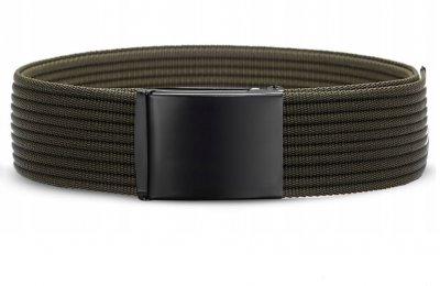 Мужской тканевый ремень Zagatto 135 см, темно-зеленый (JS3566)