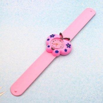 Часы детские White city наручные Бабочка силиконовые розовые