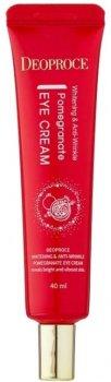 Омолаживающий крем для глаз от морщин Deoproce Whitening and Anti-Wrinkle Pomegranate Eye Cream с гранатом, гиалуроновой кислотой, коллагеном, ниацинамидом 40 мл (8809567920439)