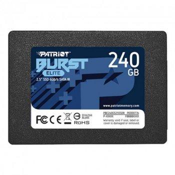 "Накопичувач SSD 240GB Patriot Burst Elite 2.5"" SATAIII TLC (PBE240GS25SSDR)"