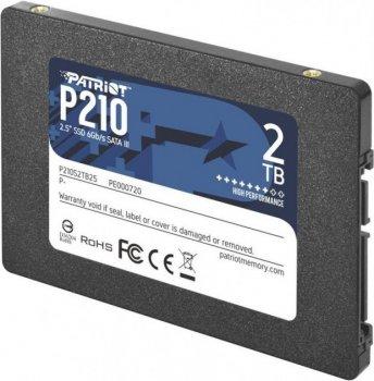 "Накопичувач SSD Patriot P210 2TB 2.5"" SATAIII TLC (P210S2TB25)"