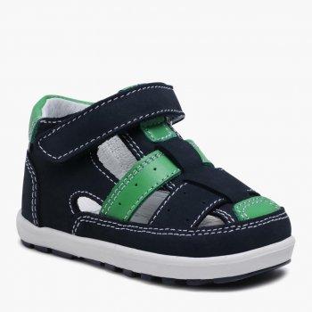 Сандалии кожаные Bartek 11694-002 Темно-Синий/Зеленый