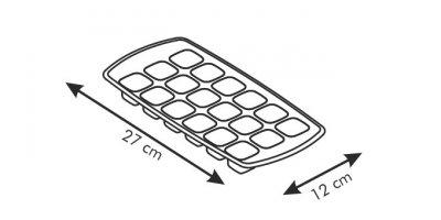 Форма для льда PRESTO Tescoma пластиковая красная (420708)
