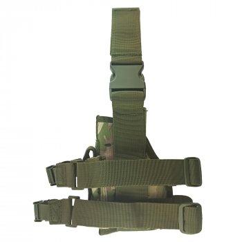 Кобура тактическая набедренная правосторонняя MFH камуфляж мультикам (30725X)