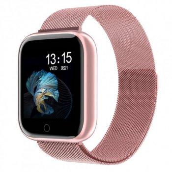 Розумні смарт годинник SENOIX™ T80 Pink з тонометром і пульсометром (Рожевий)