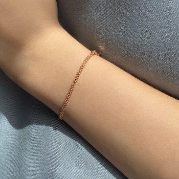 Браслет из красного золота в плетении двойной якорь 000141612 16 размера