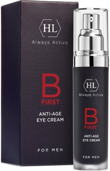 Крем для мужчин Holy Land B First Anti Age Eye Cream для кожи вокруг глаз 30 мл (7290101323952)