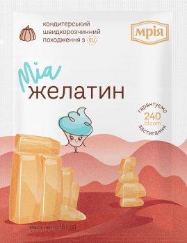Упаковка кондитерського інгредієнта Мрія Желатин 15 г х 40 шт. (4820154833141)