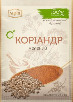 Упаковка молотого кориандра Мрія 20 г х 30 шт (4820154833844)