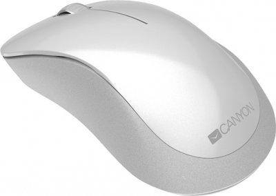 Мышь Canyon Wireless Pixart MW-11 (CNE-CMSW11PW) White Grey