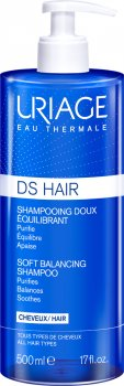Шампунь мягкий балансирующий Uriage DS Hair Soft Balancing Shampoo против перхоти 500 мл (3661434011962)