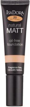 Тональная основа Isadora Natural Matt oil-free foundation 20 matt honey 35 мл (7317852142202)