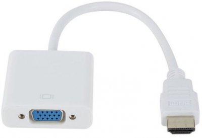 Адаптер STLab HDMI - VGA эмулятор монитора без дополнительных кабелей Белый (U-990 Pro BTC white)
