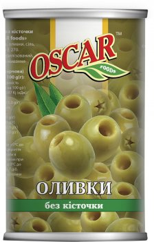 Оливки Oscar без косточки 300 г (8413552051314)