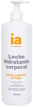 Крем-молочко для тела Interapothek с дозатором Увлажняющее с экстрактом овса 750 мл (8430321009758)