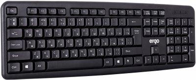 Клавиатура проводная Ergo К-110 USB Black