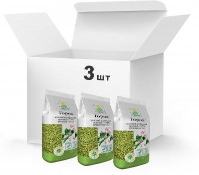 Упаковка Горох колотый шлифованный зеленый Терра Первого сорта 3 x 0.9 кг (4820015739162)