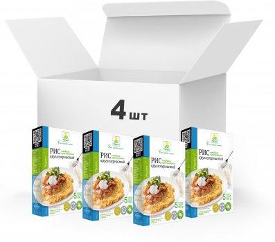 Упаковка Рис круглозернистый Терра быстрого приготовления 4 x 0.4 кг в варочном пакете (4820015739247)
