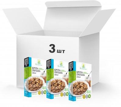 Упаковка Крупа гречневая ядрица Терра Первого сорта быстрого приготовления 3 x 0.4 кг в варочном пакете (4820015739292)