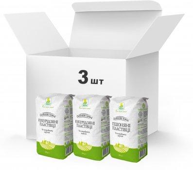 Набір пластівців швидкого приготування Терра №12 Пластівці пшоняні, Пластівці кукурудзяні 2 шт. 2.35 кг (4820015739025)