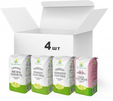 Набір пластівців швидкого приготування Терра №11 Пластівці вівсяні, суміші пластівців 10 видів зернових, Пластівці ячмінні, Пластівці пшеничні 2.05 кг (4820015739001)