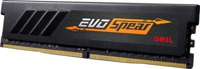 Оперативна пам'ять GeIL DDR4-3200 16384 MB PC4-25600 EVO Spear Stealth Black (GSB416GB3200C16BSC)