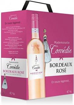 Вино Mademoiselle Comedie рожеве сухе 3 л 12.5% (3500610095948)