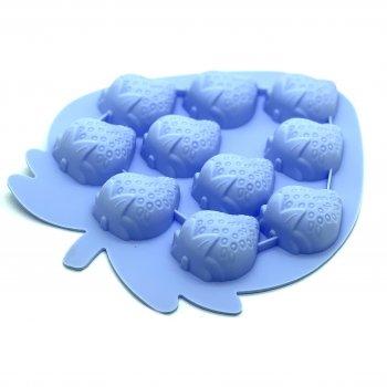 Силиконовая форма для льда и конфет Клубника (голубой) Stenson (10215 LB)