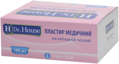 Пластырь медицинский H Dr. House 4 см х 10 см (5060384392509)