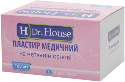 Пластырь медицинский H Dr. House 6 см х 10 см (5060384392516)