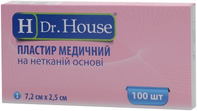 Пластырь медицинский H Dr. House 7.2 см х 2.5 см (5060384392486)