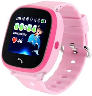 Дитячий телефон-годинник з GPS-трекером GOGPS ME K25 Pink (K25PK)