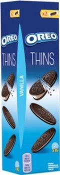 Упаковка печенья Oreo тонкого с какао и кремовой начинкой ванильного вкуса 96 г х 20 шт (7622210606396)