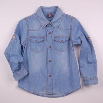 Лаконічна сорочка для дітей Z 30088-jeans джинс колір