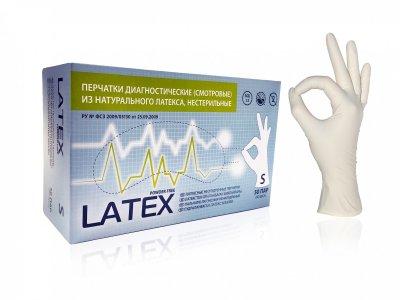 Перчатки Латексные Mediok без пудры Размер S (100шт)