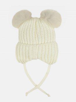 Зимняя шапка с завязками Elf-kids Дакота 52 см Молоко (ROZ6400026493)