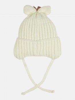 Зимняя шапка с завязками Elf-kids Винки 44 см Молоко (ROZ6400026581)