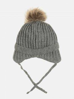 Зимняя шапка с завязками Elf-kids Орландо 50-52 см Темно-серая (ROZ6400026614)