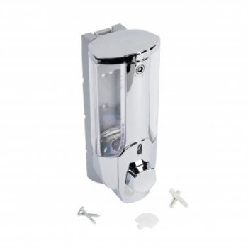 Дозатор для рідкого мила AXENTIA 380 мл 133171 хром/сірий