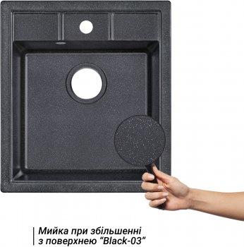 Кухонная мойка LIDZ 460х515/200 BLA-03 (LIDZBLA03460515200)