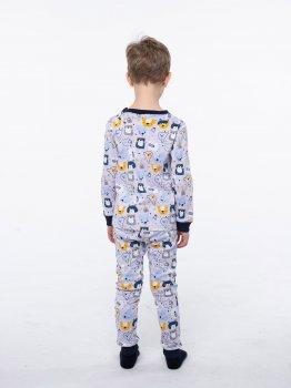 Пижама (футболка с длинными рукавами + штаны) Vidoli В-20632W Серая