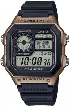 Чоловічий годинник CASIO AE-1200WH-5AVEF
