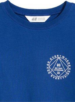 Свитшот H&M 0503338 Синий