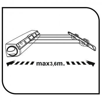 Сушилка для белья настенная Gimi Rotor 4 14 м (153688)