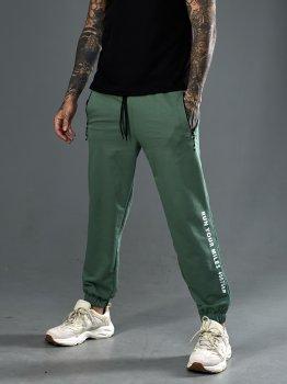 Спортивні трикотажні штани Tailer з манжетами Зелені (241)