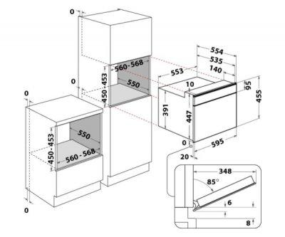 Мікрохвильова піч з грилем та конвекцією Whirlpool AMW 850/IXL