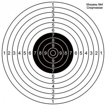 Мішень DU-GARA Спортивна №4 500х500 мм (Targ-0001)