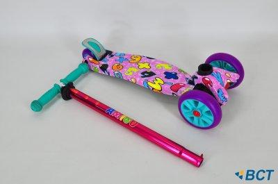 Самокат триколісний Ecoline Jetta дитячий рожевий