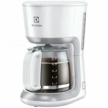 Кофеварка капельная Electrolux EKF 3330 на 12 чашек с нагревательной пластиной антипригарного покрытия с антикапельной системой White (1446)